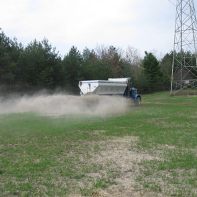 Liming a food plot 1