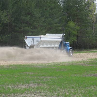 Liming a food plot 4